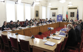 The closing event of the Parliamentary Dimension of the Bulgarian Presidency of the Council of the EU in Sofia started with the Meeting of the Presidency Troika